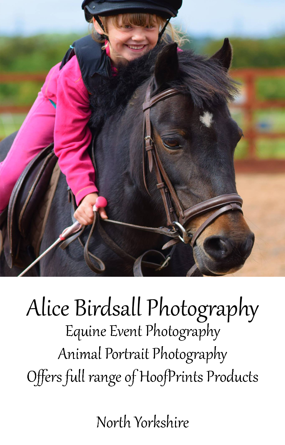 Alice Birdsall Photography - Now Offering a Full Range of HoofPrints Products