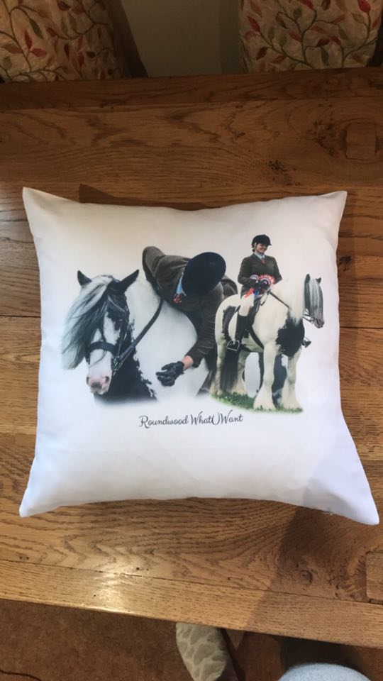 HoofPrints Personalised Photo Cushion