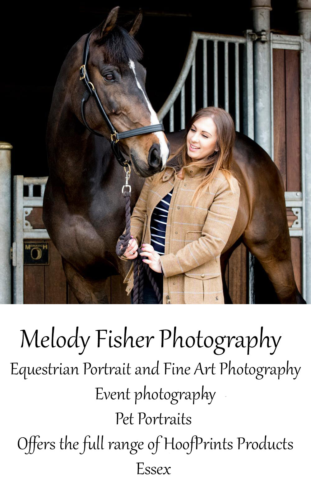 Melody Fisher Photography- Now Offering the Full Range of HoofPrints Products