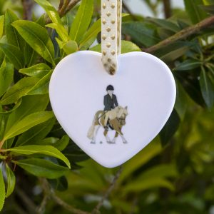 Personalised Ceramic Pony Heart Ornaments